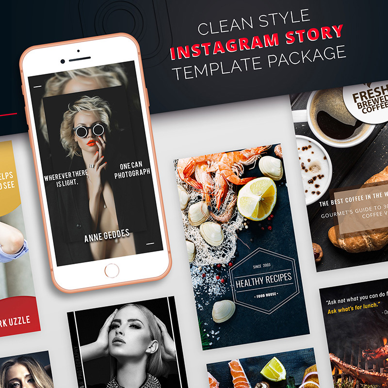 Clean Style Instagram Story Package Social Media