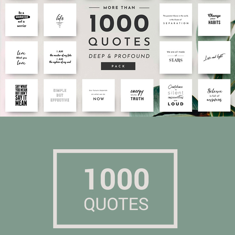 1,000 Unique and Elegant Quotes Social Media