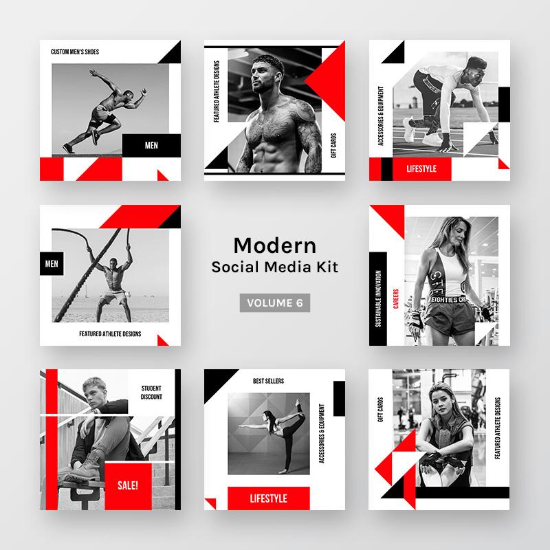 Modern Social Media Kit (Vol. 6) Social Media