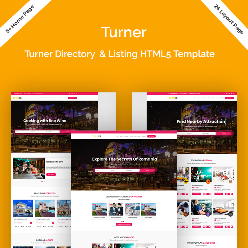 Turner - Directory & Listing HTML5 Website Template