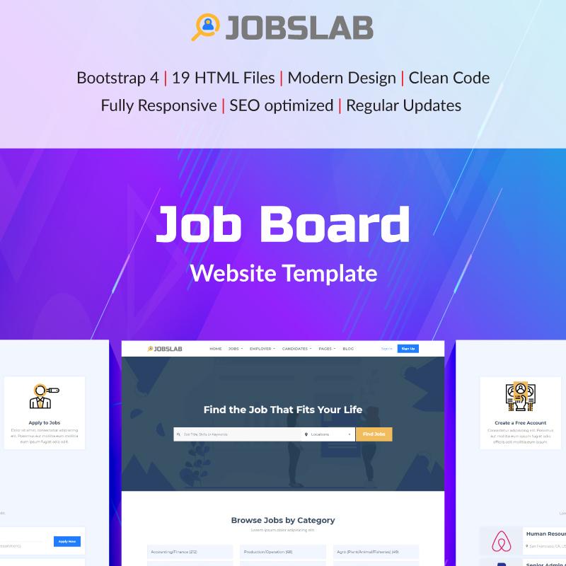 JobsLab - Job Board Website Template