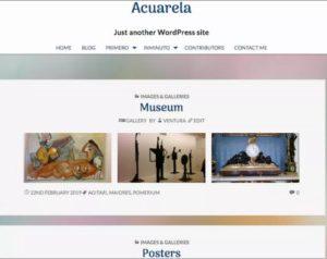 Acuarela WordPress Theme