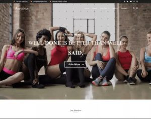 Aerobics WordPress Theme