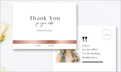 Beauty Thank You Card