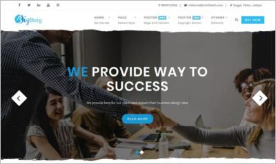 Bizberg WordPress Theme - Free Download