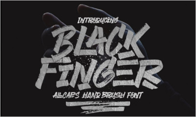 Black Finger Brush Font