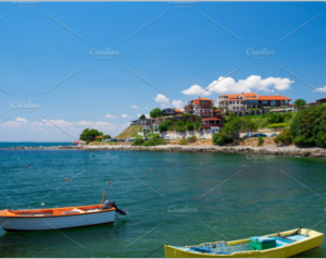 Black Sea coast in city of Nessebar