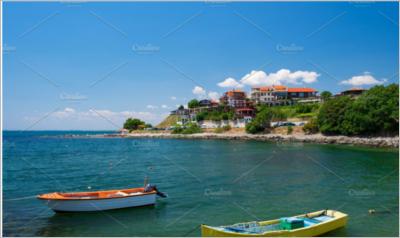 Black Sea coast in city of Nessebar
