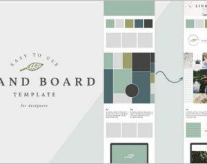 Brand Board Mockup Template