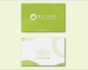 Business card templates with beauty concept