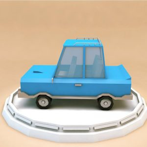 Cartoon Family Car