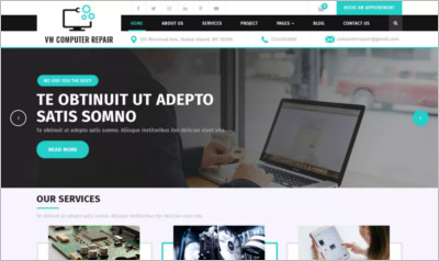 Computer Repair WordPress Theme - Free Download