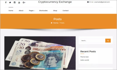 Cryptocurrency Exchange WordPress Theme - Free Download