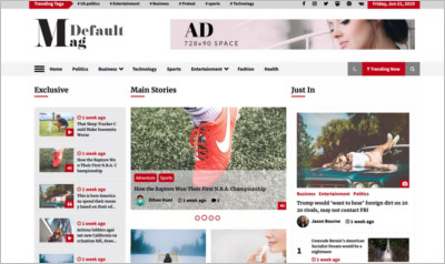 Default Mag WordPress Theme - Free Download