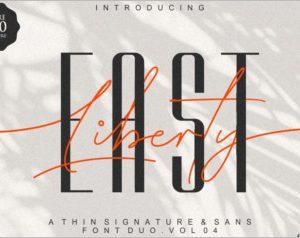 East Liberty Thin Signature & Sans