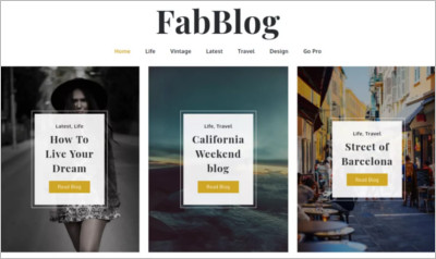FabBlog WordPress Theme – Free Download