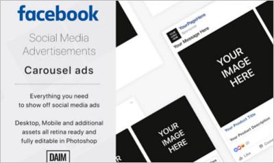 Facebook Carousel ad - Social Media
