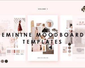 Feminine Mood board Template