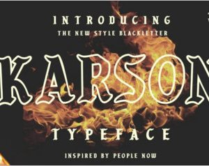 KARSON BLACKLETTER