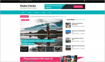 KhabarPatrika WordPress Theme - Free Download