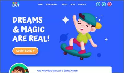 Kids Love WordPress Theme