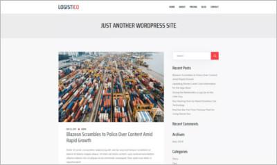 Logistico WordPress Theme - Free Download
