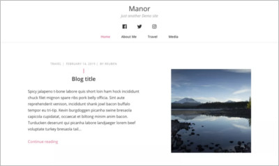 Manor WordPress Theme