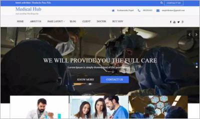 Medical Hub WordPress Theme - Free Download