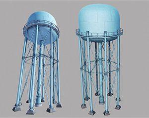 Metal Water Tower