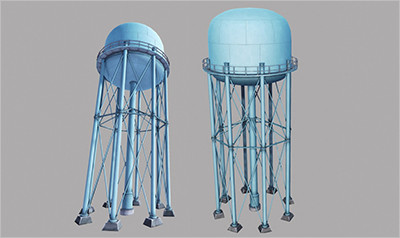 Metal Water Tower