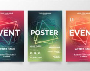 Modern music event poster