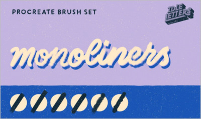 Monoliners Procreate Brush Set