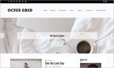 Ocius Grid WordPress Theme - Free Download