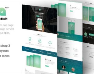 One Page App Landing PSD