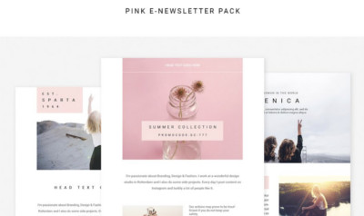 Pink E-Newsletter Pack
