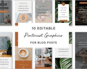 Pinterest Graphics for Blog Posts