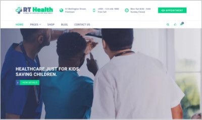 RT Health WordPress Theme
