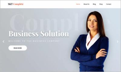 SKT Complete WordPress Theme - Free Download