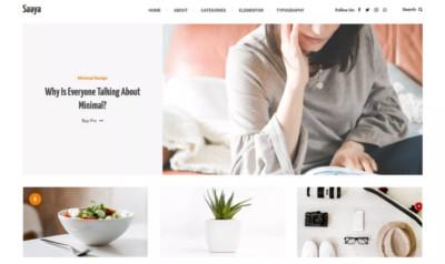 Saaya WordPress Theme - Free Download
