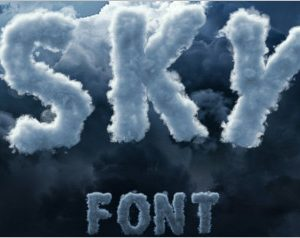 Sky Cloud FontS