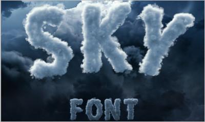 Sky Cloud Font