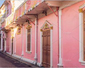 Street in the Portuguese style Romani