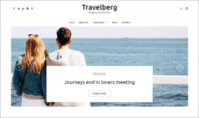 Travelberg WordPress Theme - Free Download