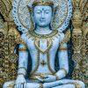 White and Gold Buddhist Statue