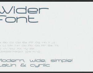 Wider font