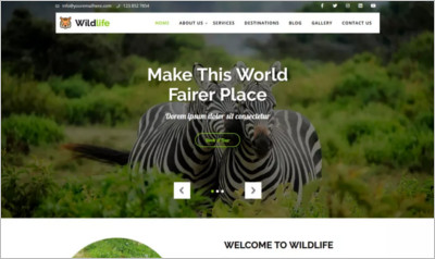 Wildlife Lite WordPress Theme - Free Download