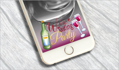 Wine Tasting Party Snapchat Filter