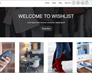 Wishlist Wordpress Theme