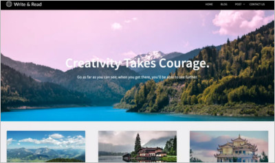 Write And Read WordPress Theme - Free Download
