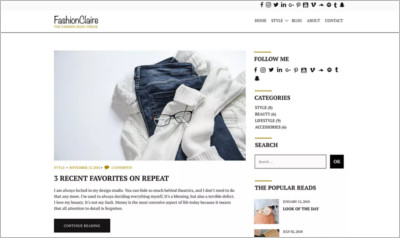 Fashionclaire WordPress Theme - Free Download